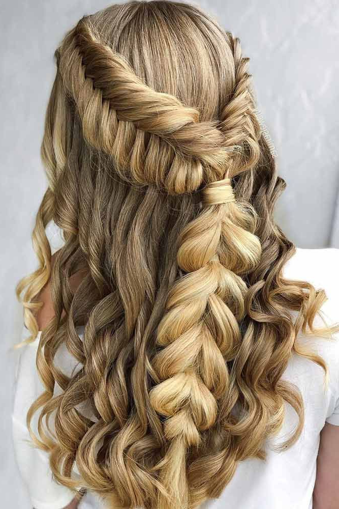 Widely Used Loose Highlighted Half Do Hairstyles Inside Pinflowerbrideseason Bouquets On Hairstyles (View 5 of 20)