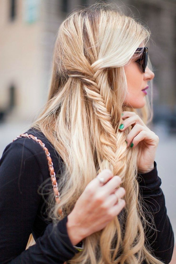 Widely Used Pancaked Side Braid Hairstyles Throughout 16 Side Braid Hairstyles: Pretty Long Hair Ideas (View 14 of 20)