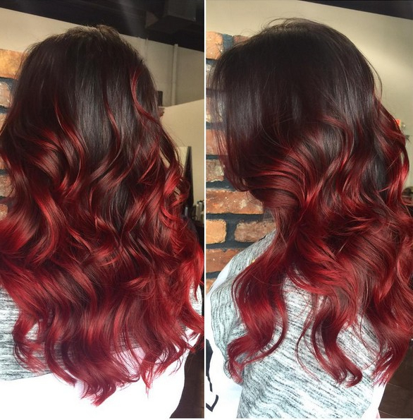 Widely Used Red Highlights For Type 3c Hairstyles Regarding 20 Best Red Ombre Hair Ideas 2019: Cool Shades, Highlights (View 10 of 20)