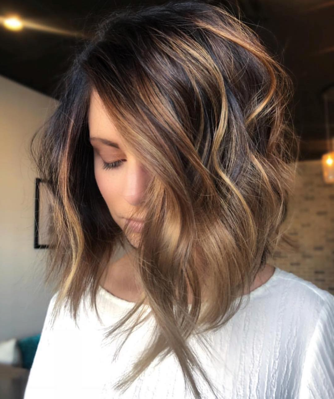 10 Trendy Ombre And Balayage Hairstyles For Shoulder Inside Beachy Waves Hairstyles With Balayage Ombre (View 17 of 20)