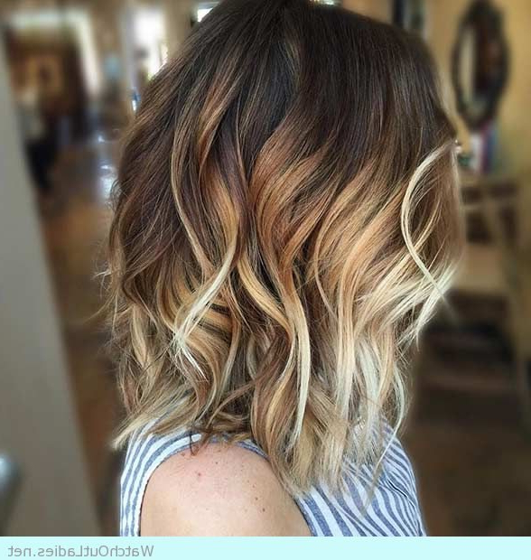 12 Balayage On Dark Brown Hair Ideas You Need To Copy This Within Caramel Blonde Balayage On Inverted Lob Hairstyles (View 14 of 20)