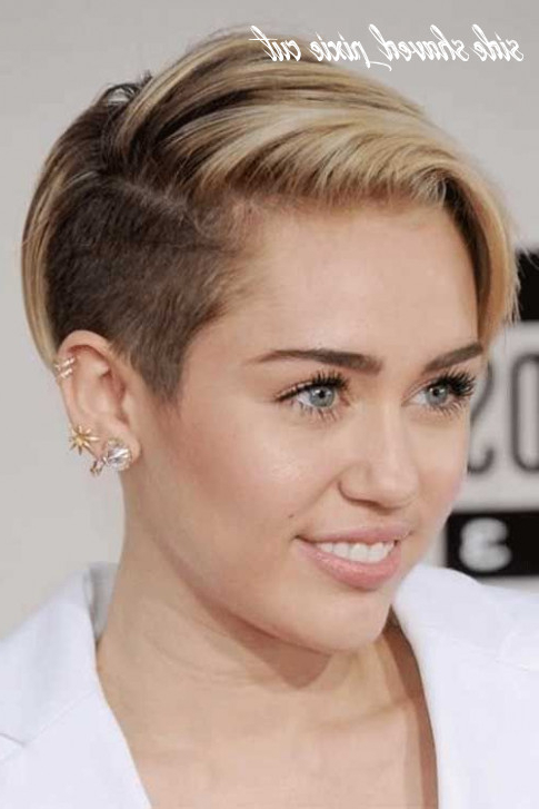 12 Side Shaved Pixie Cut – Undercut Hairstyle Regarding Most Popular Shaved Sides Pixie Hairstyles (View 13 of 20)