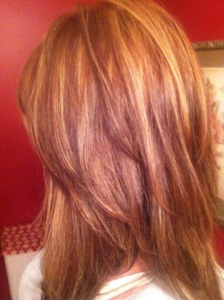 128d5dd320404383b3d552f70eb56955 (716×960) | Natural Pertaining To Natural Brown Hairstyles With Barely There Red Highlights (View 3 of 20)