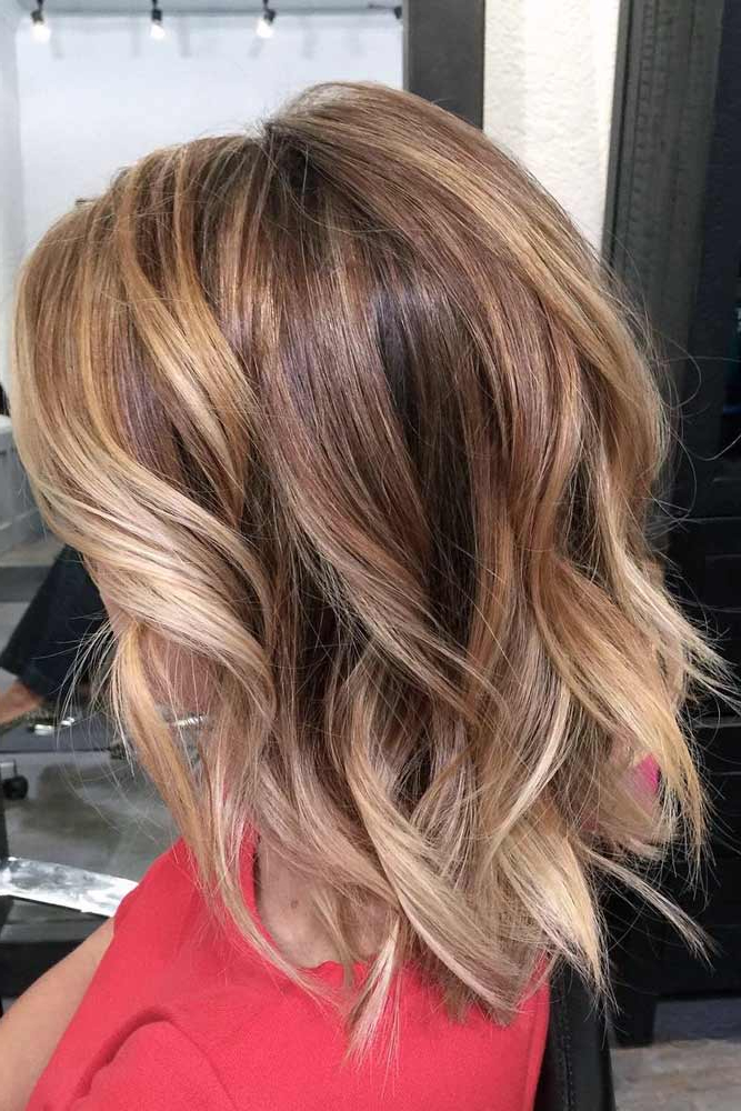 15 Cool Hairstyles For Women – Look Cool And Charming Intended For Caramel Blonde Balayage On Inverted Lob Hairstyles (View 11 of 20)