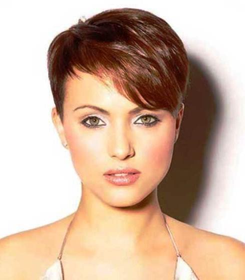 15 Different Pixie Haircuts With Bangs Throughout Best And Newest Edgy Undercut Pixie Hairstyles With Side Fringe (View 7 of 20)