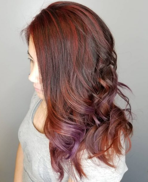 15 Hottest Brown Hair With Red Highlights Within Natural Brown Hairstyles With Barely There Red Highlights (View 10 of 20)