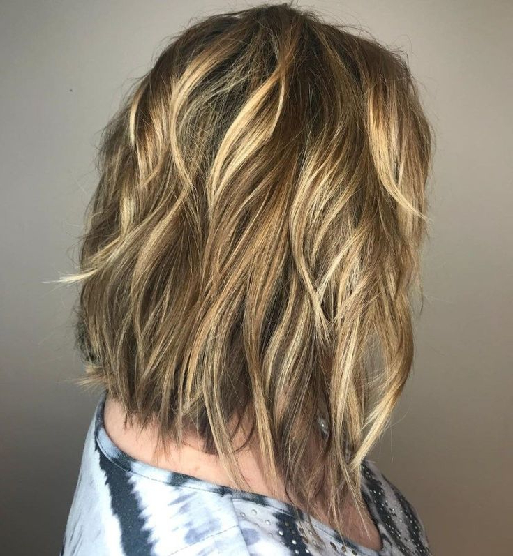 #15: Shaggy Shoulder Length Bob With Highlights | 20 Ways In Shaggy Bob Hairstyles With Face Framing Highlights (View 8 of 20)