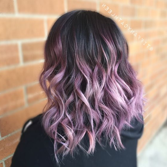 15 Trendy Purple Balayage Hair Ideas – Styleoholic With Lavender Balayage For Short A Line Haircuts (View 3 of 20)