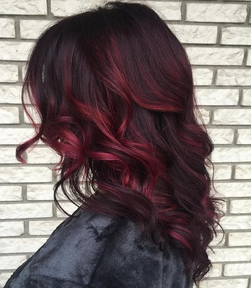 16 Burgundy Balayage For Dark Brown Hair – Capellistyle In Burgundy Balayage On Dark Hairstyles (View 10 of 20)