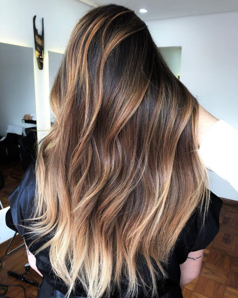 18 Extraordinary Long Hairstyles With Highlights Intended For Balayage Highlights For Long Bob Hairstyles (View 3 of 20)