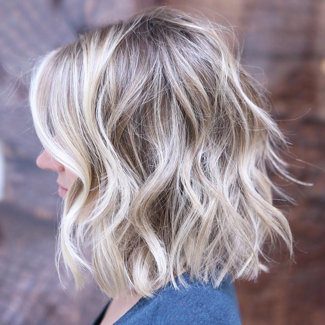 20 Inspirational Long Choppy Bob Hairstyles Intended For White Blonde Curly Layered Bob Hairstyles (View 5 of 20)