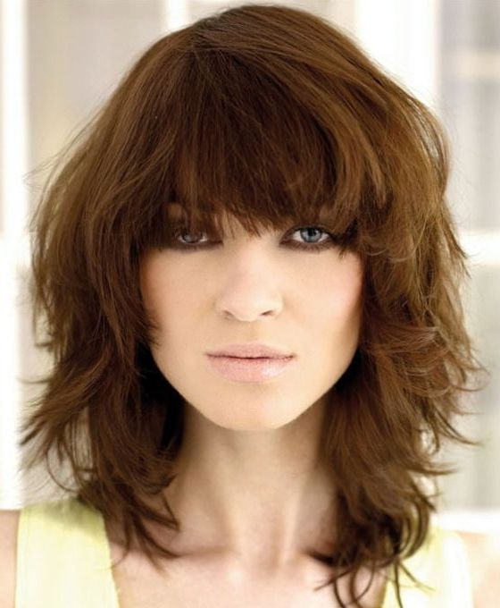20 Medium Layered Haircuts Throughout Well Known Choppy Layers Hairstyles With Face Framing (View 13 of 20)