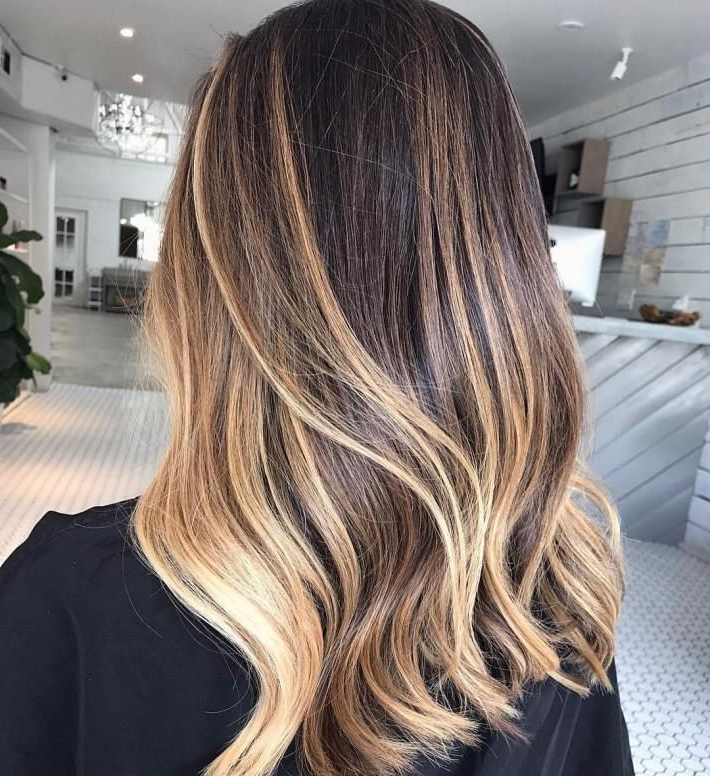 20 New Brown To Blonde Balayage Ideas Not Seen Before Regarding Brown Blonde Sweeps Of Color Hairstyles (View 9 of 20)
