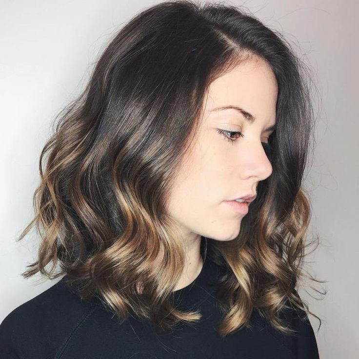 20 Sweet Caramel Balayage Hairstyles For Brunettes And With Caramel Blonde Balayage On Inverted Lob Hairstyles (View 13 of 20)