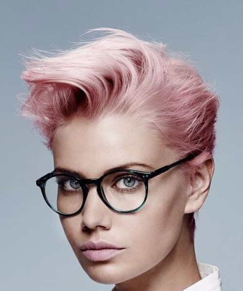 2017 Razor Cut Pink Pixie Hairstyles With Edgy Undercut For 55 Adorable Ways To Sport A Long Pixie Cut – My New Hairstyles (View 15 of 20)