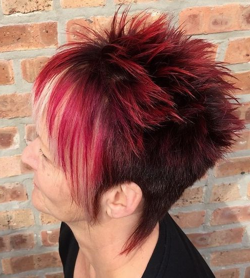 2017 Spiky Short Hairstyles With Undercut For 18 Womens Spiky Undercut Hairstyle – Haircuts + Hairstyles (View 13 of 20)