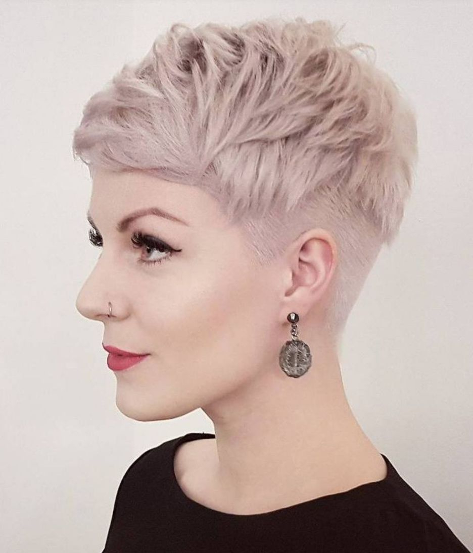 2018 Pastel Pixie Hairstyles With Undercut Intended For 60 Cute Short Pixie Haircuts – Femininity And Practicality (View 8 of 20)