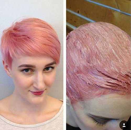 2018 Razor Cut Pink Pixie Hairstyles With Edgy Undercut Pertaining To 15 Pixie Cuts Pink (View 14 of 20)