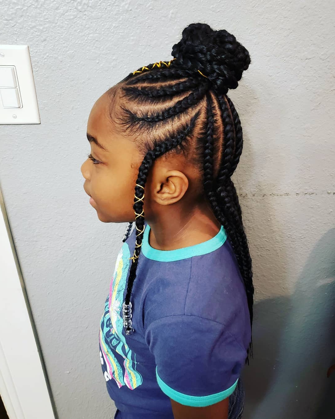 2018 Tiny Braids Hairstyles For Front Pieces Inside Braided Hairstyles For Little Girls – Davaocityguy (View 10 of 20)