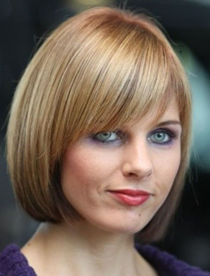 2019 Chin Length Bangs And Face Framing Layers Hairstyles With Chin Length Bob With Bangs (View 2 of 20)