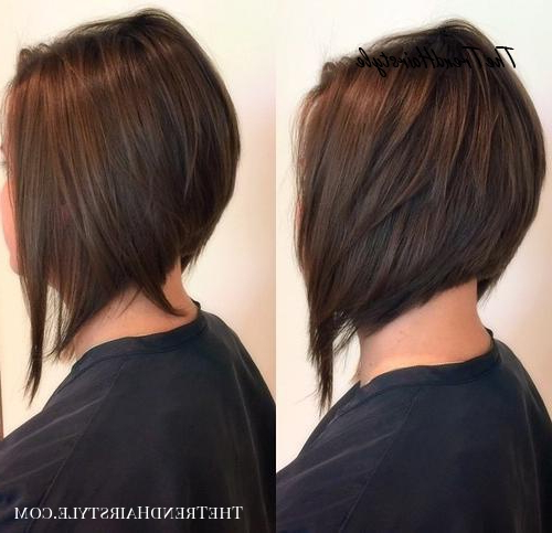 2019 Graduated Bob Hairstyles With Face Framing Layers With Wispy Stacked Layers – 30 Beautiful And Classy Graduated (View 17 of 20)