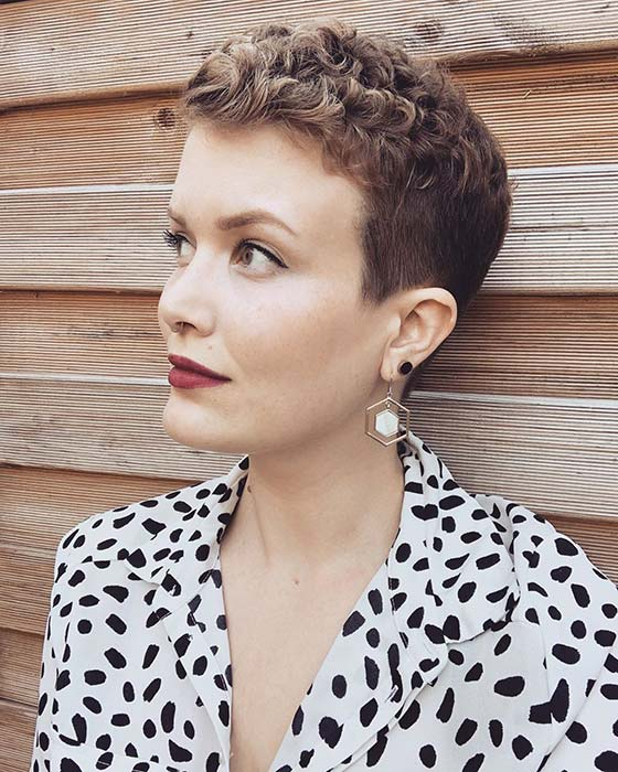 21 Best Curly Pixie Cut Hairstyles Of  (View 9 of 20)