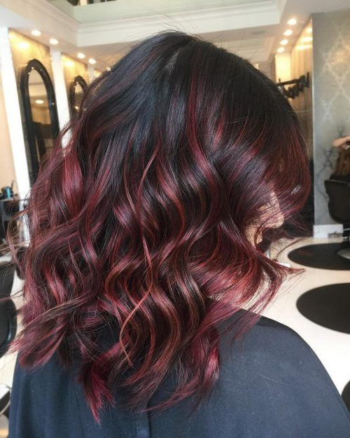 21 Stunning Examples Of Balayage Dark Hair Color   Red Throughout Bright Red Balayage On Short Hairstyles (View 11 of 20)