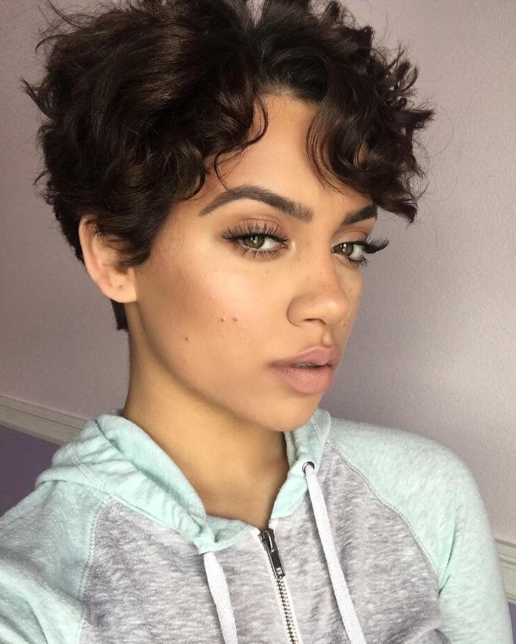 24 Short Pixie Haircuts And Styles To Choose From – Belletag With Regard To Favorite Curly Pixie Hairstyles With Segmented Undercut (View 3 of 20)