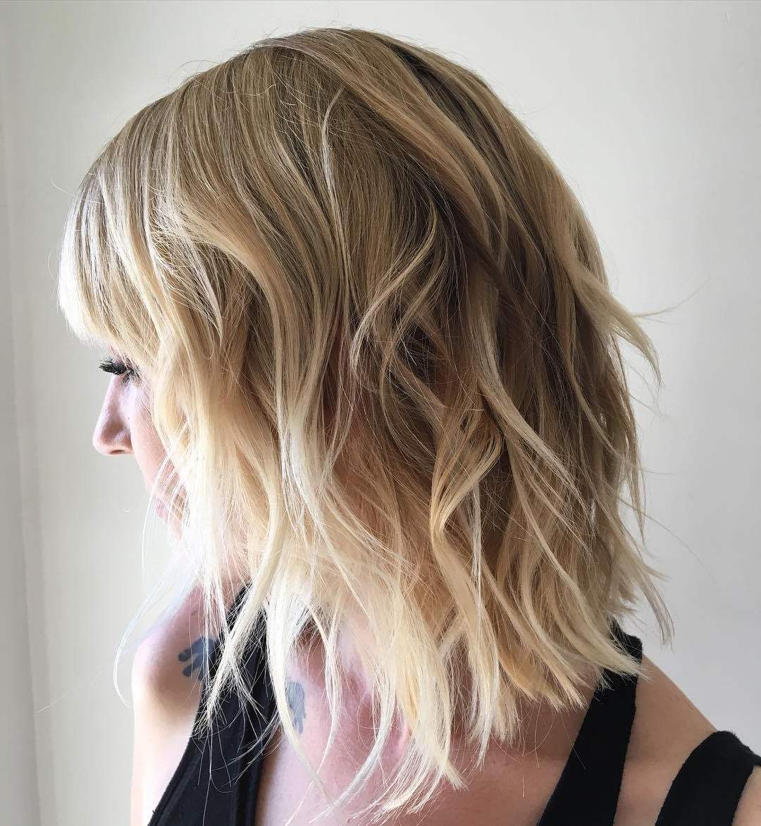 25 Alluring Bob Hairstyles For Fine Hair – Latest Bob Hair Throughout Shaggy Bob Hairstyles With Blonde Balayage (View 6 of 20)