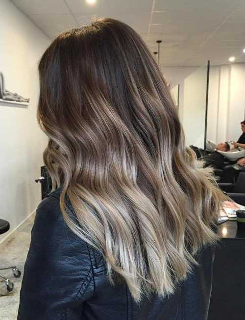25 Blonde Ombre Hair To Charge Your Look With Radiance For Ash Blonde Balayage Ombre On Dark Hairstyles (View 12 of 20)