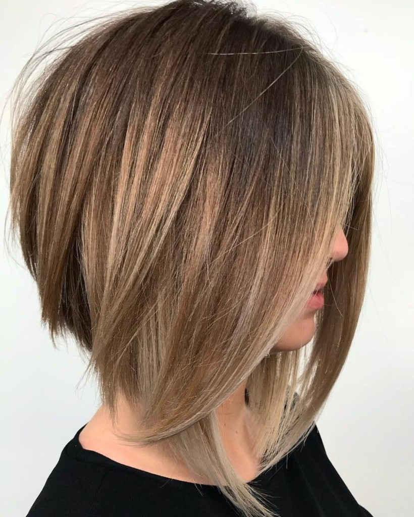 25 Medium Hairstyles 2021 – Look Glam And Fab This Year Throughout Cool Toned Angled Bob Hairstyles (View 2 of 20)