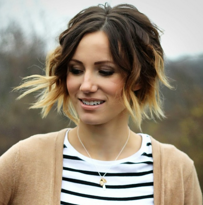 26 Trendy Ombre Bob Hairstyles – Latest Ombre Hair Color With Regard To Short Hairstyles With Delicious Brown Coloring (View 17 of 20)