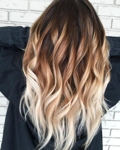 28 Top Blonde Ombre Hair Color Ideas For 2019 With Regard To Brown Blonde Sweeps Of Color Hairstyles (View 8 of 20)