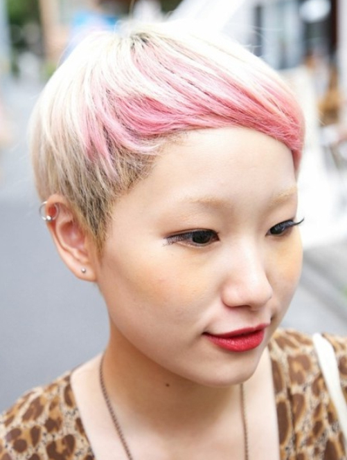 30 Pink Hairstyles Ideas For This Season Regarding Well Liked Razor Cut Pink Pixie Hairstyles With Edgy Undercut (View 6 of 20)