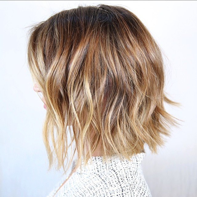 30 Stunning Balayage Hair Color Ideas For Short Hair 2021 With Regard To Bronde Balayage For Short Layered Haircuts (View 18 of 20)