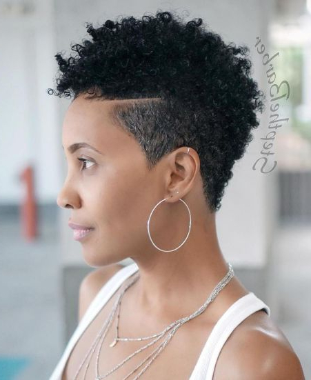 30 Stunning Short Hairstyles For Black Women 2019 – Page With 2017 Tapered Pixie Hairstyles With Extreme Undercut (View 16 of 20)