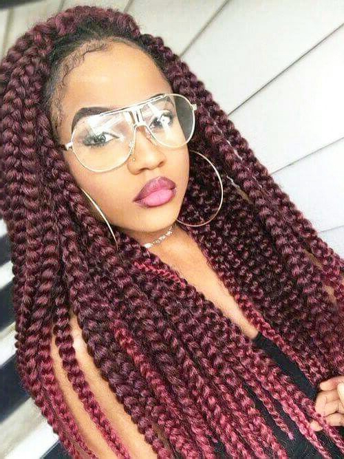 31 Jumbo Box Braids Hairstyles That Will Never Go Out Of In Most Popular Tiny Braids Hairstyles For Front Pieces (View 11 of 20)