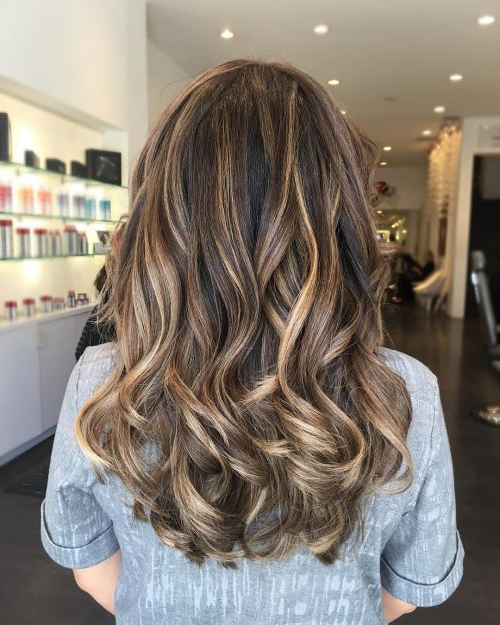 32 Best Pictures Black Long Hair With Blonde Highlights Throughout Black Hairstyles With Brown Highlights (View 12 of 20)