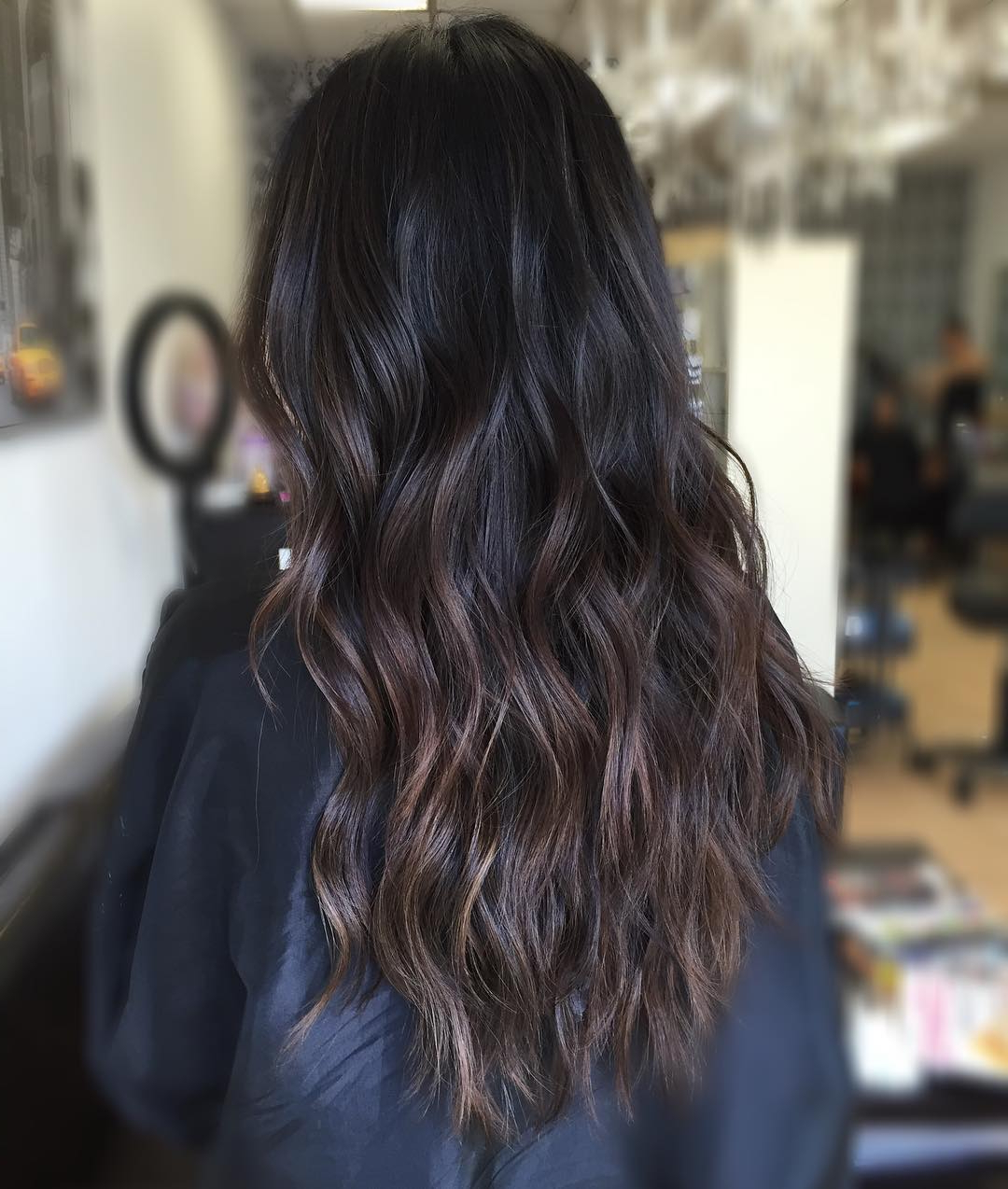 35 Dark Brown Hairstyles With Brown Balayage – Reviewtiful With Regard To Short Brown Balayage Hairstyles (View 2 of 20)