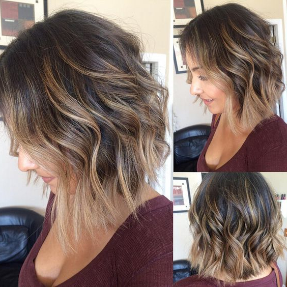 35 Hottest Short Ombre Hairstyles 2021 – Best Ombre Hair Inside Short Bob Hairstyles With Balayage Ombre (View 8 of 20)