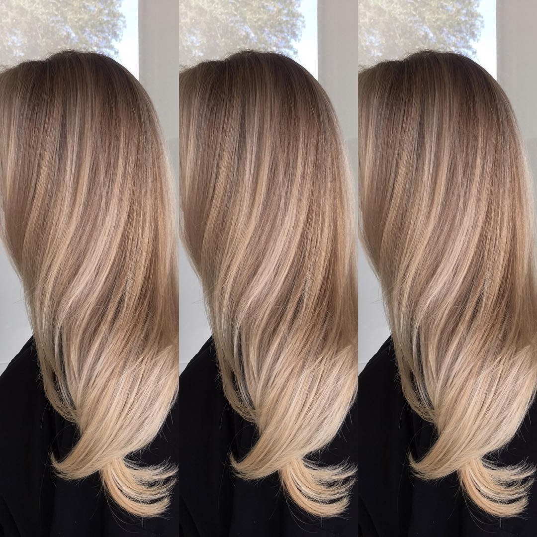 35 Winter Blonde Balayage Hairstyles For Dark Blonde Hair Pertaining To Long Pixie Hairstyles With Dramatic Blonde Balayage (View 4 of 20)