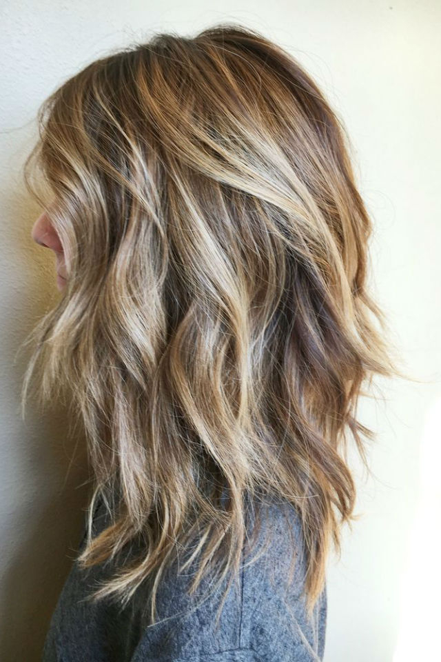 36 Blonde Balayage Hair Color Ideas With Caramel, Honey Throughout Caramel Blonde Balayage On Inverted Lob Hairstyles (View 9 of 20)