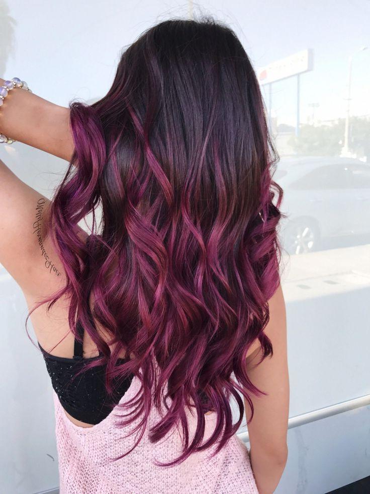 39+ Luxury Hair Balayage Embellishment Hairstyles Ombre Regarding Burgundy Balayage On Dark Hairstyles (View 9 of 20)
