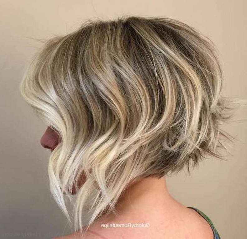40 East Short Layered Hairstyles Regarding Ash Blonde Balayage For Short Stacked Bob Hairstyles (View 9 of 20)