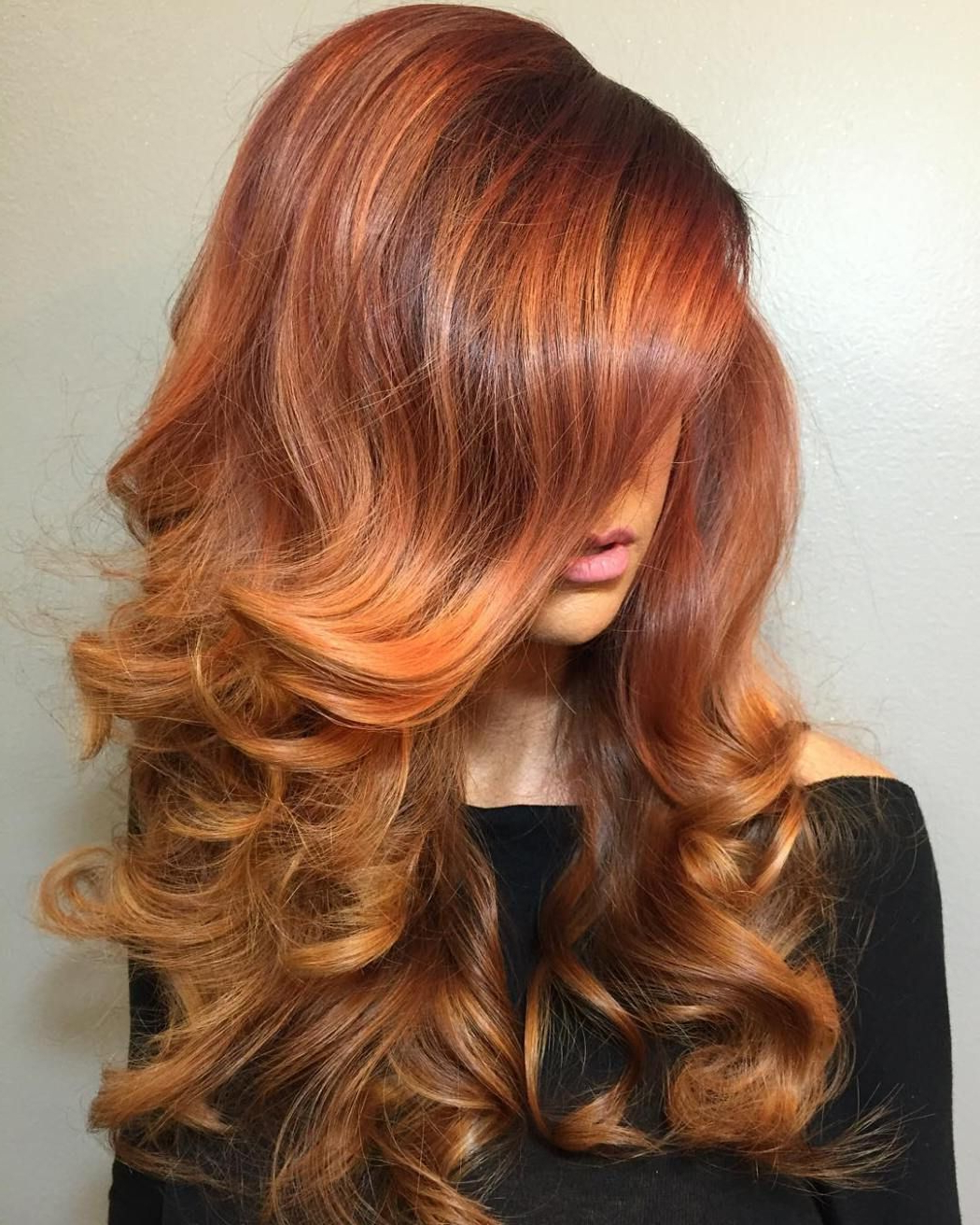 40 Fresh Trendy Ideas For Copper Hair Color   Copper Hair With Regard To Bright Red Balayage On Short Hairstyles (View 17 of 20)