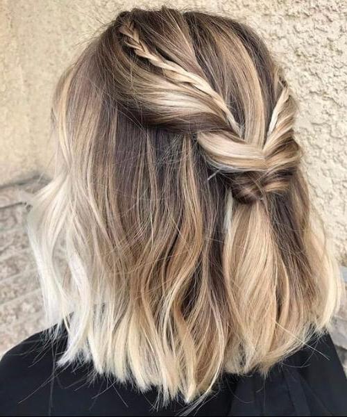 45 Cool Balayage Short Hair Ideas Dividedcolor – My Regarding Blonde Balayage On Short Dark Hairstyles (View 16 of 20)