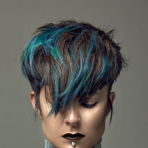 45 Short Hair With Highlights Ideas For A New Look! – My Pertaining To Trendy Short Hairstyles With Blue Highlights And Undercut (View 11 of 20)