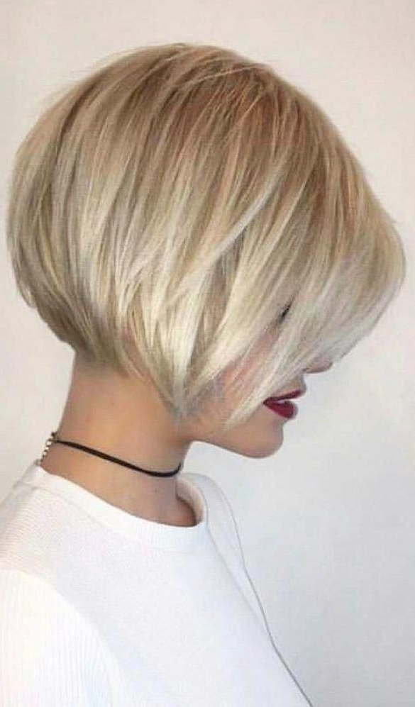 46 Bob With Bangs Hairstyle Ideas Trending For 2019 In For Cool Toned Angled Bob Hairstyles (View 16 of 20)