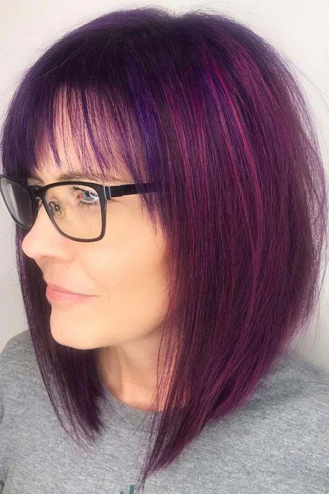 46 Bob With Bangs Hairstyle Ideas Trending For 2019   Long Pertaining To Cool Toned Angled Bob Hairstyles (View 4 of 20)