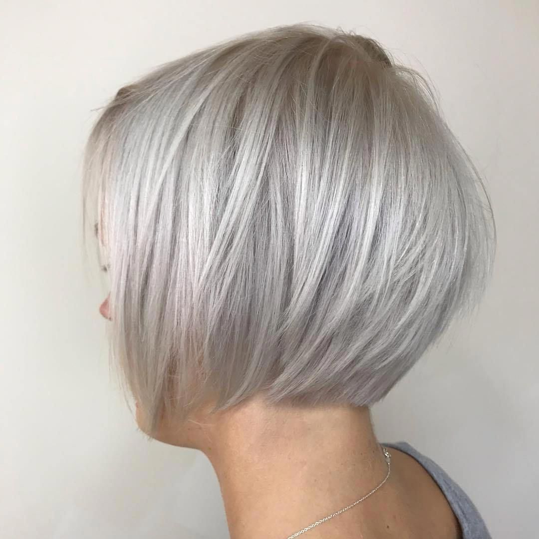 #48: Shiny Sleek Silver Pixie Bob #bobstylehaircuts With Regard To Well Known Pixie Hairstyles With Sleek Undercut (View 13 of 20)